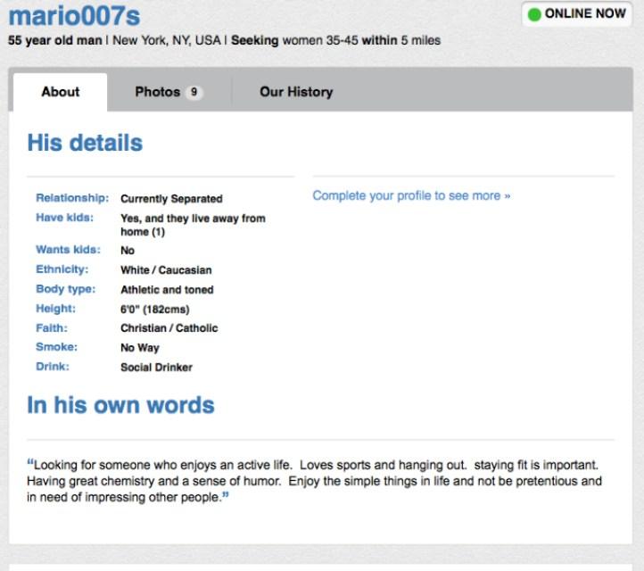 mario singer profile