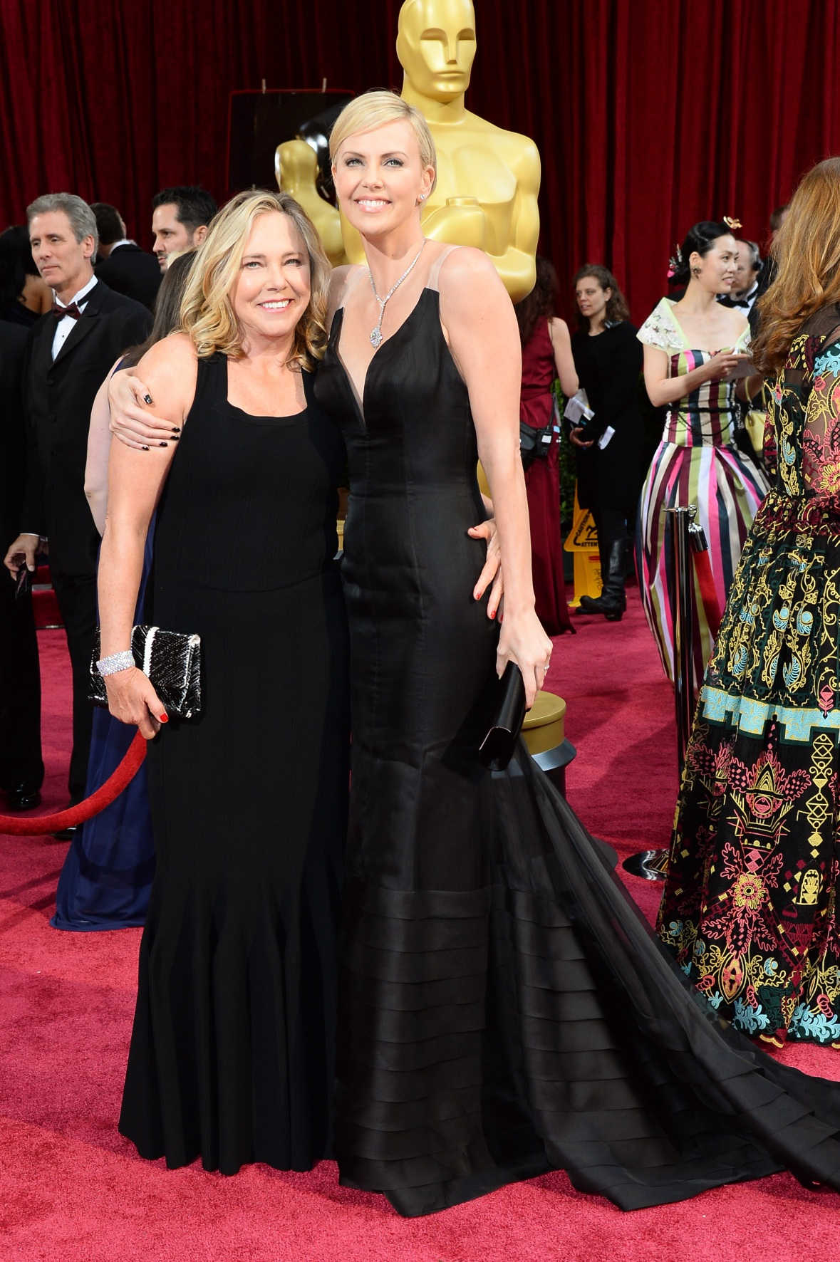 charlize theron and mother