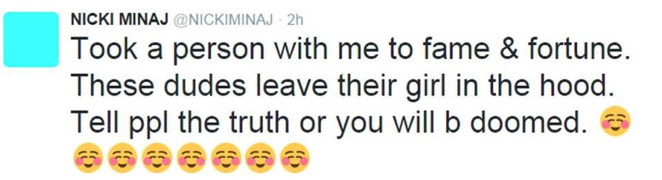 nicki minaj tweet 1