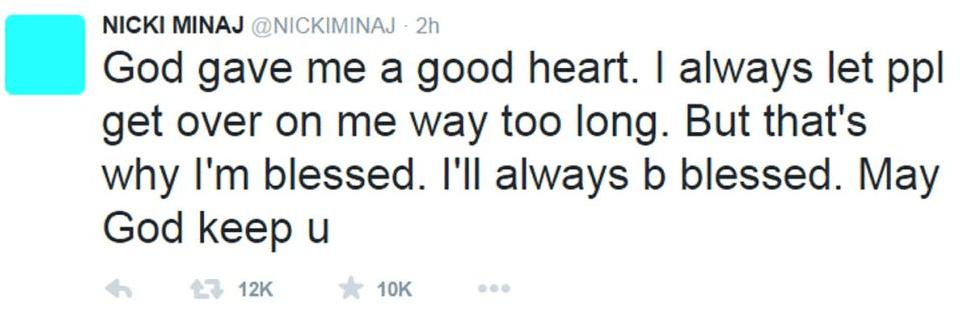 nicki minaj tweet 2