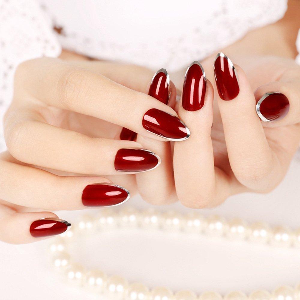 halloween 2017_itw - dark red fake nails
