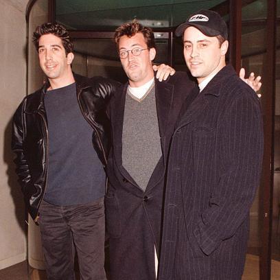David Schwimmer, Matthew Perry, Matt LeBlanc at the Met Bar 1998
