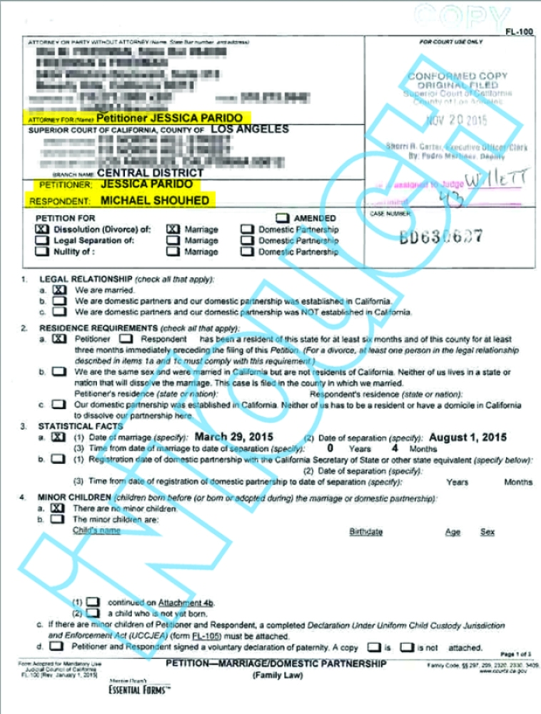 jessica parido divorce document 1