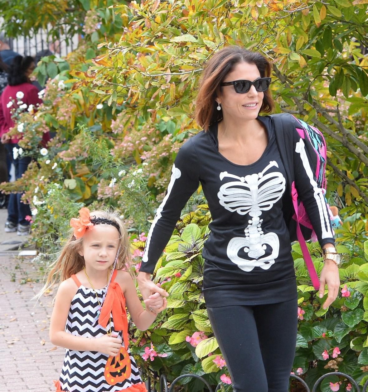 bethenny frankel and daughter bryn hoppy october 2015 getty