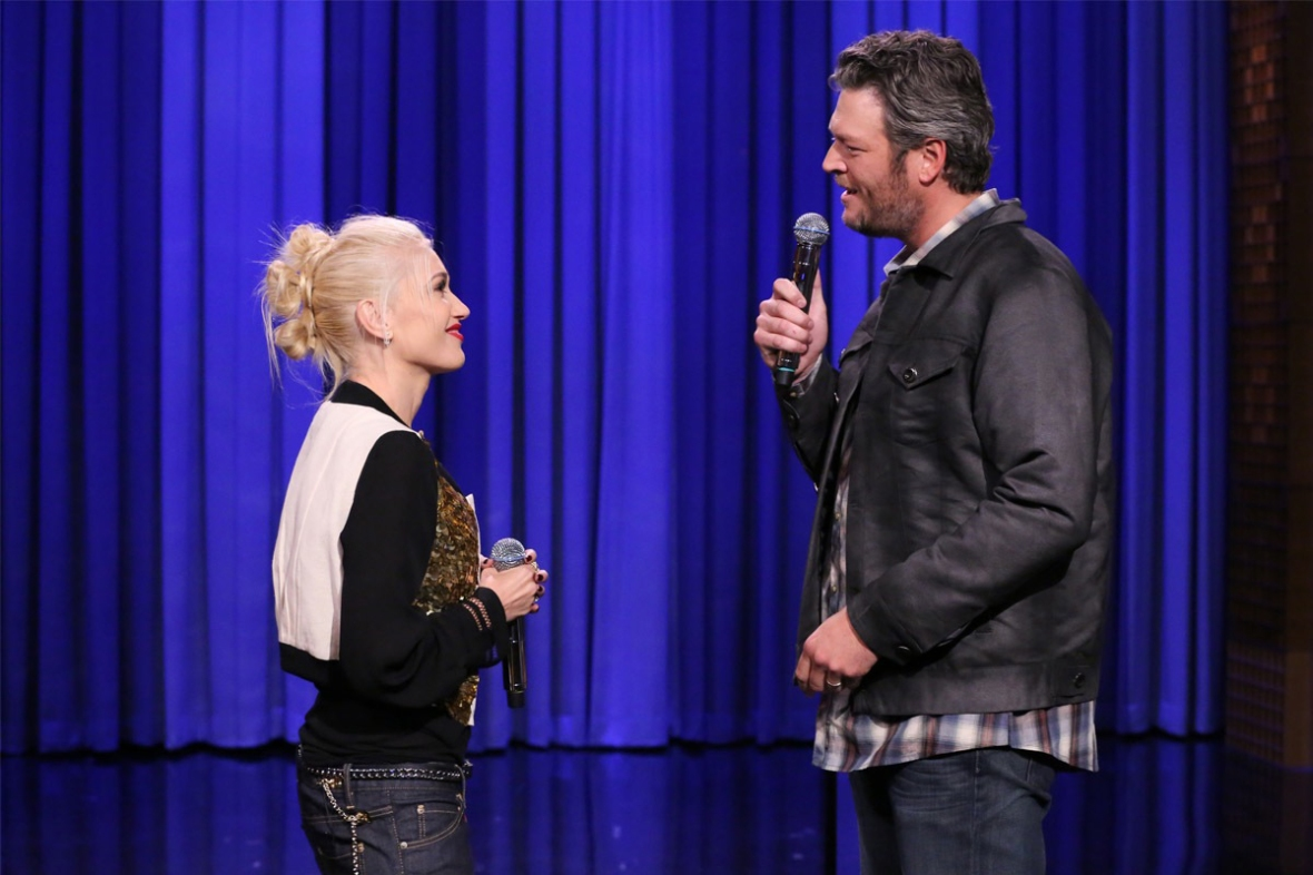 gwen and blake (photo credit: getty images)