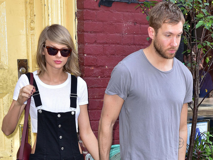 taylor and calvin (photo credit: getty images)