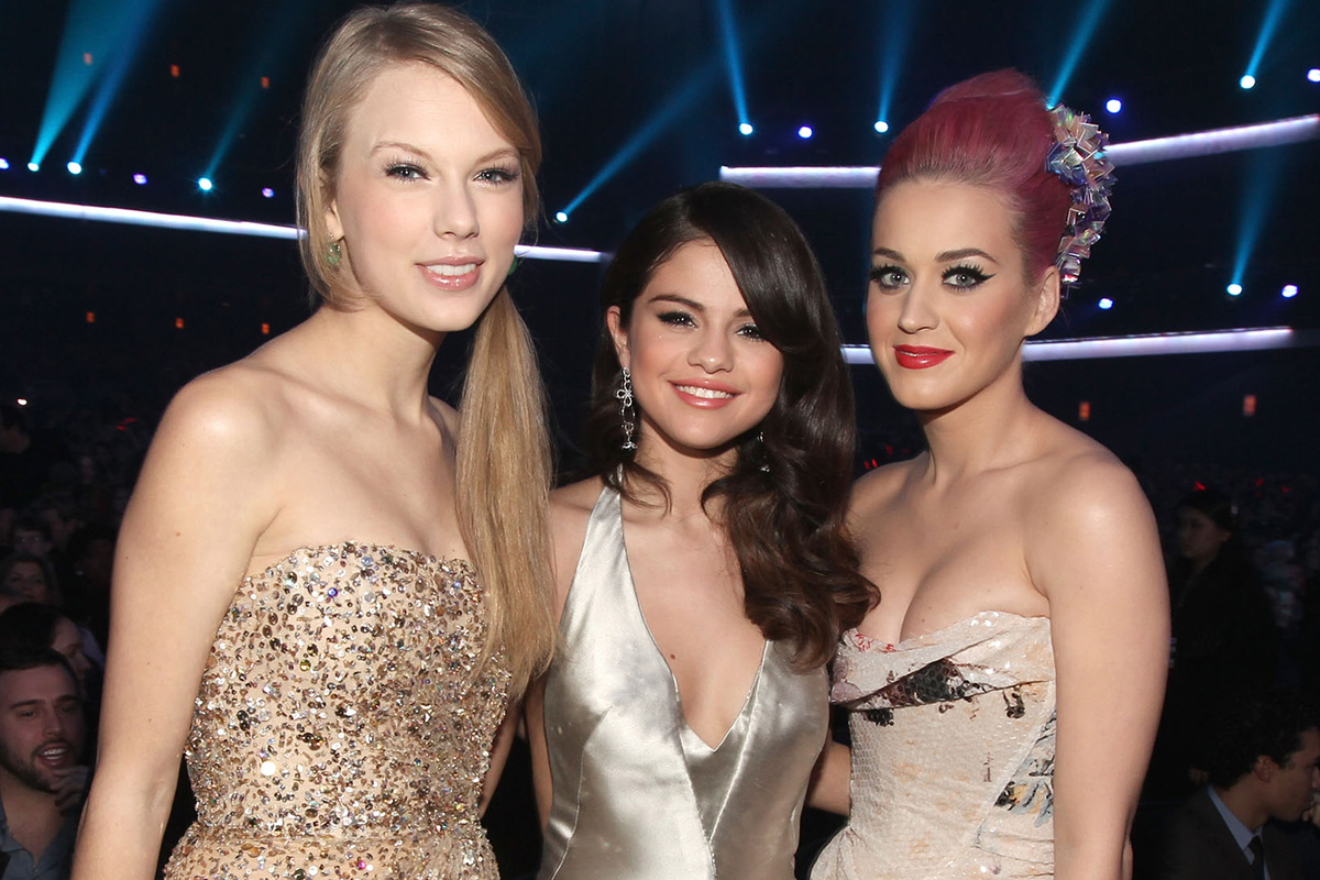 Image result for taylor swift, katy perry and selena gomez
