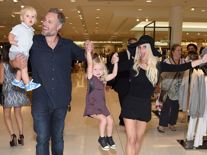 jessica simpson eric johnson kids getty images