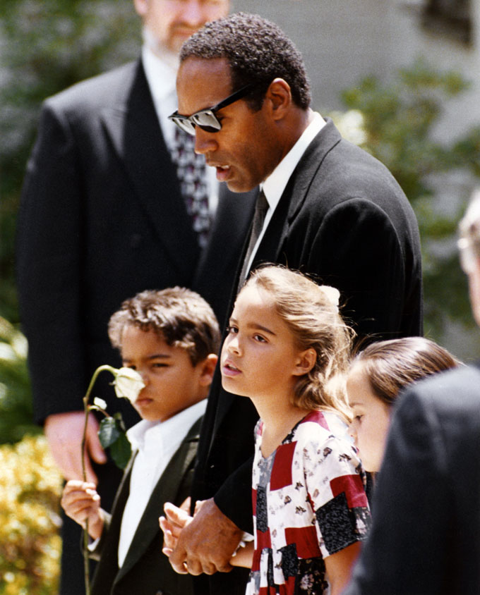 oj simpson and kids getty images