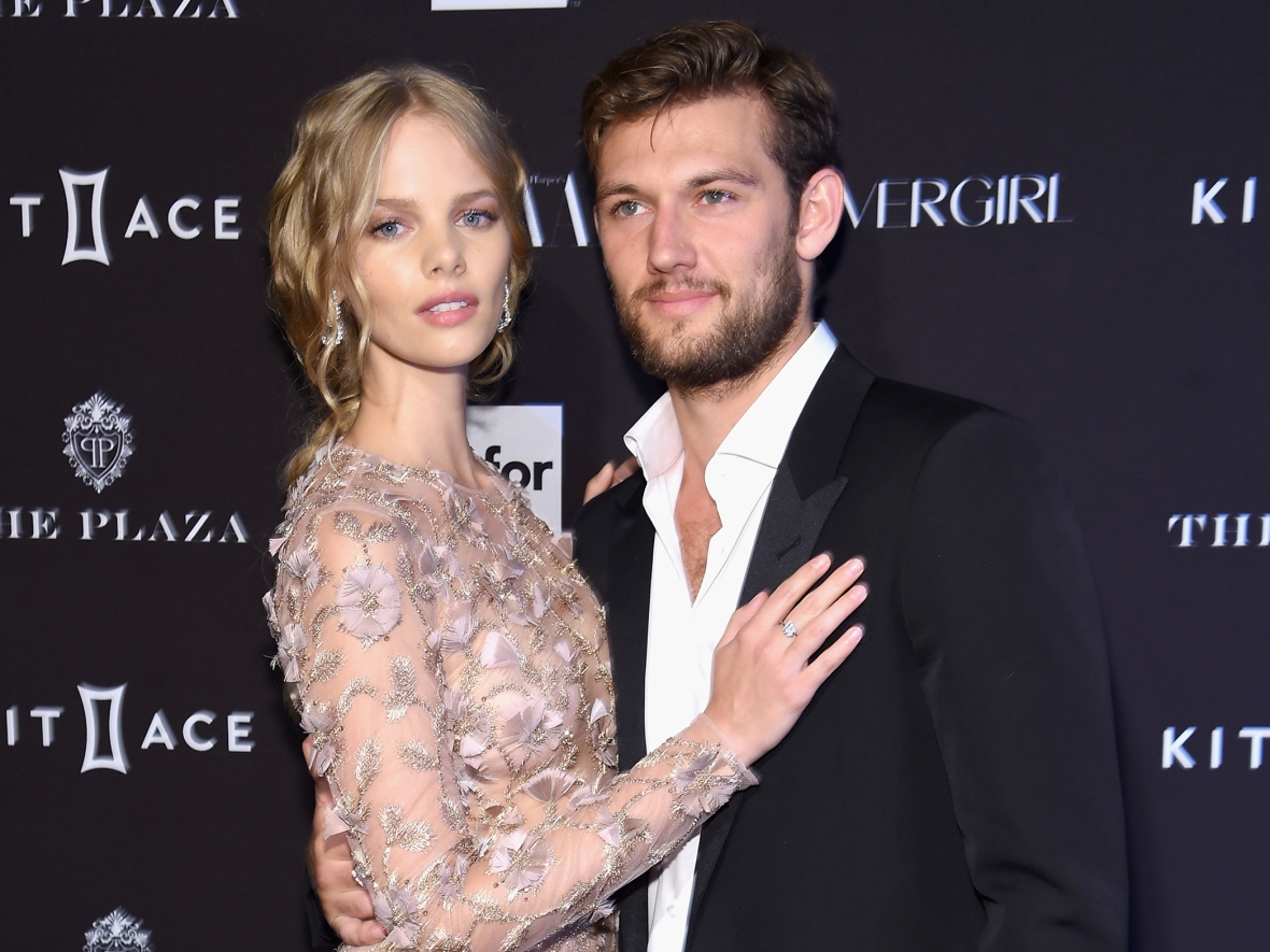 alex pettyfer and marloes horst (getty images)