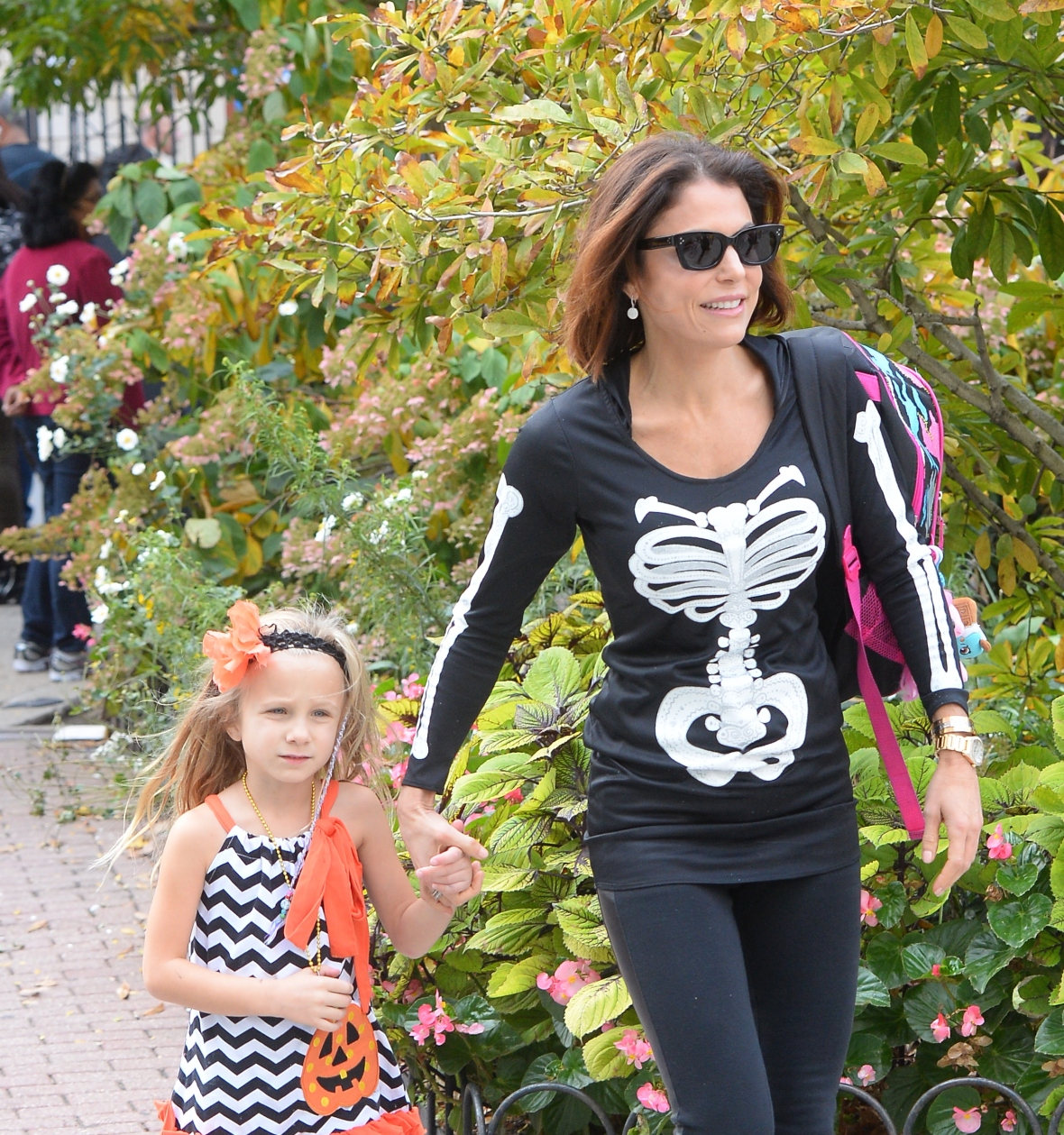 bethenny frankel and daughter bryn hoppy october 2015 getty