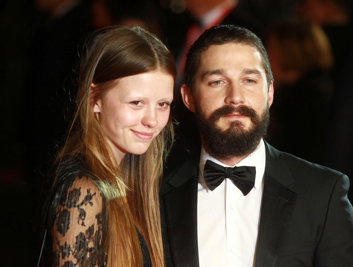 shia labeouf mia goth getty images