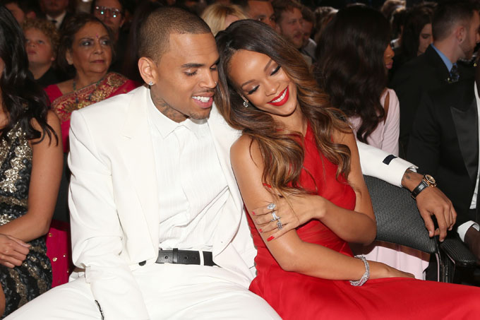 chris brown, rihanna getty images