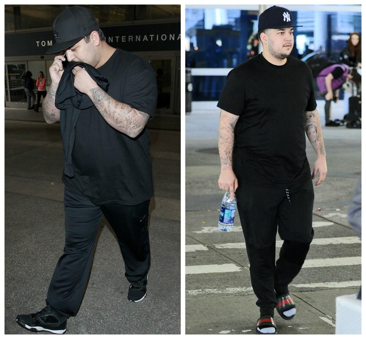 rob kardashian weight loss splash