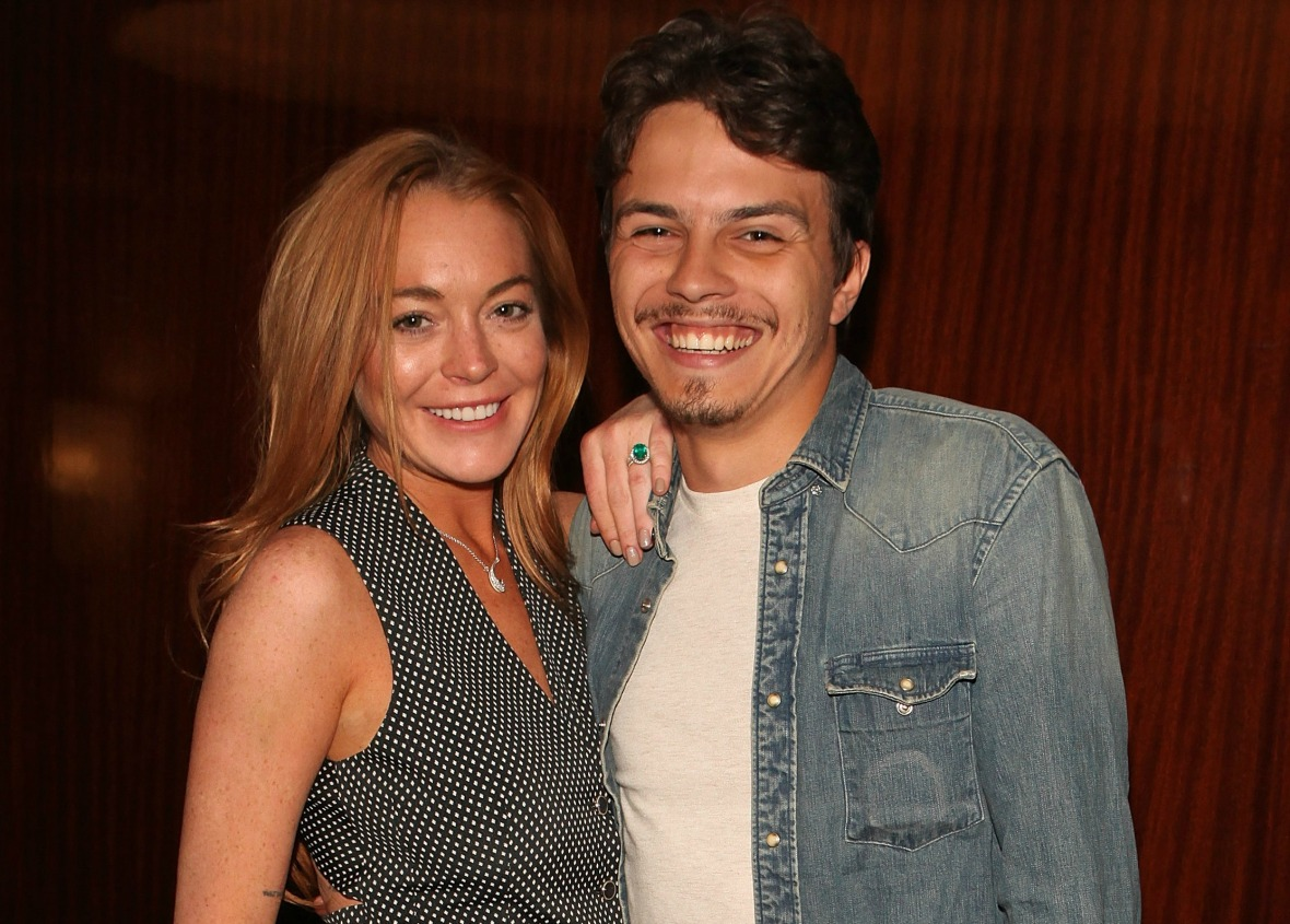 lindsay lohan egor tarabasov getty images