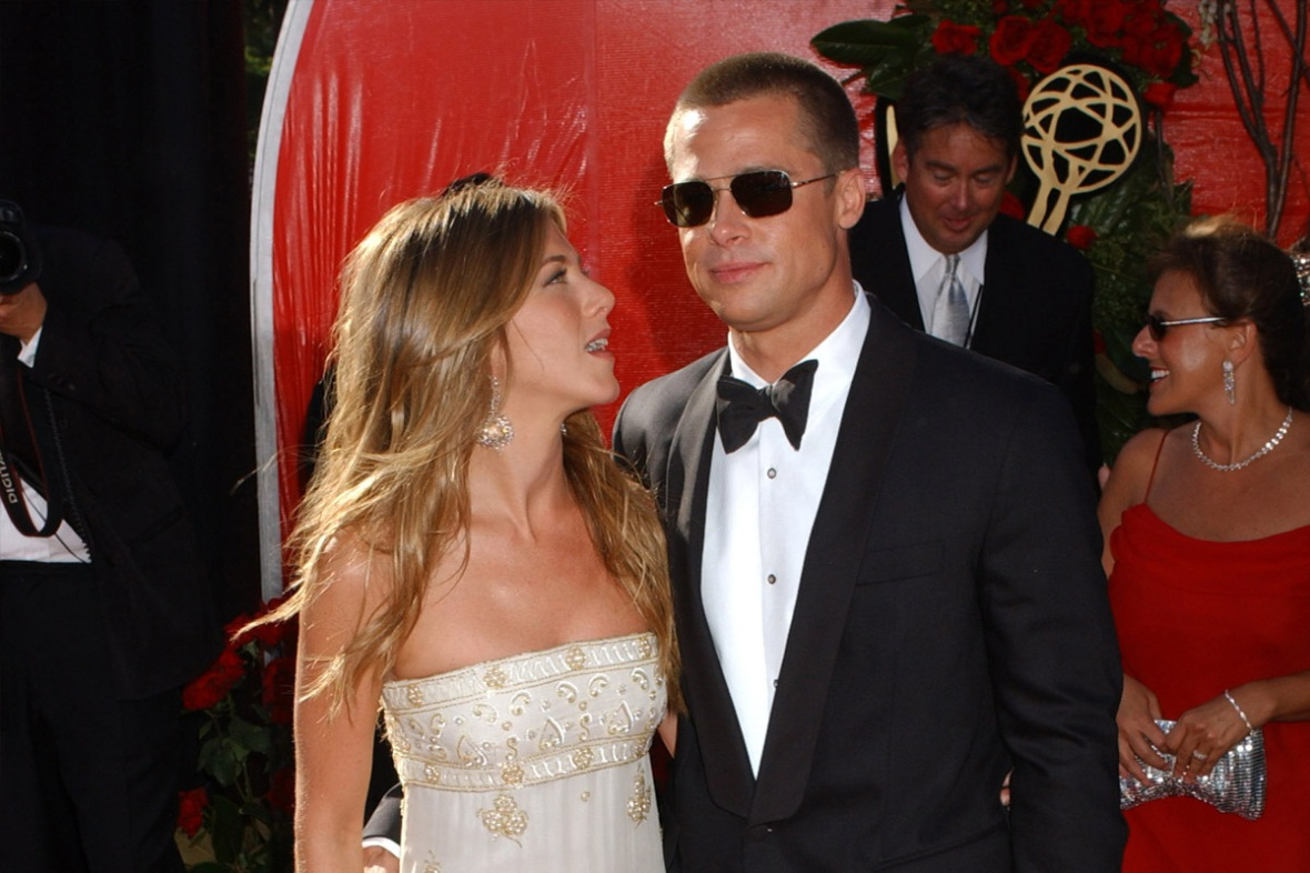 jennifer aniston and brad pitt getty images