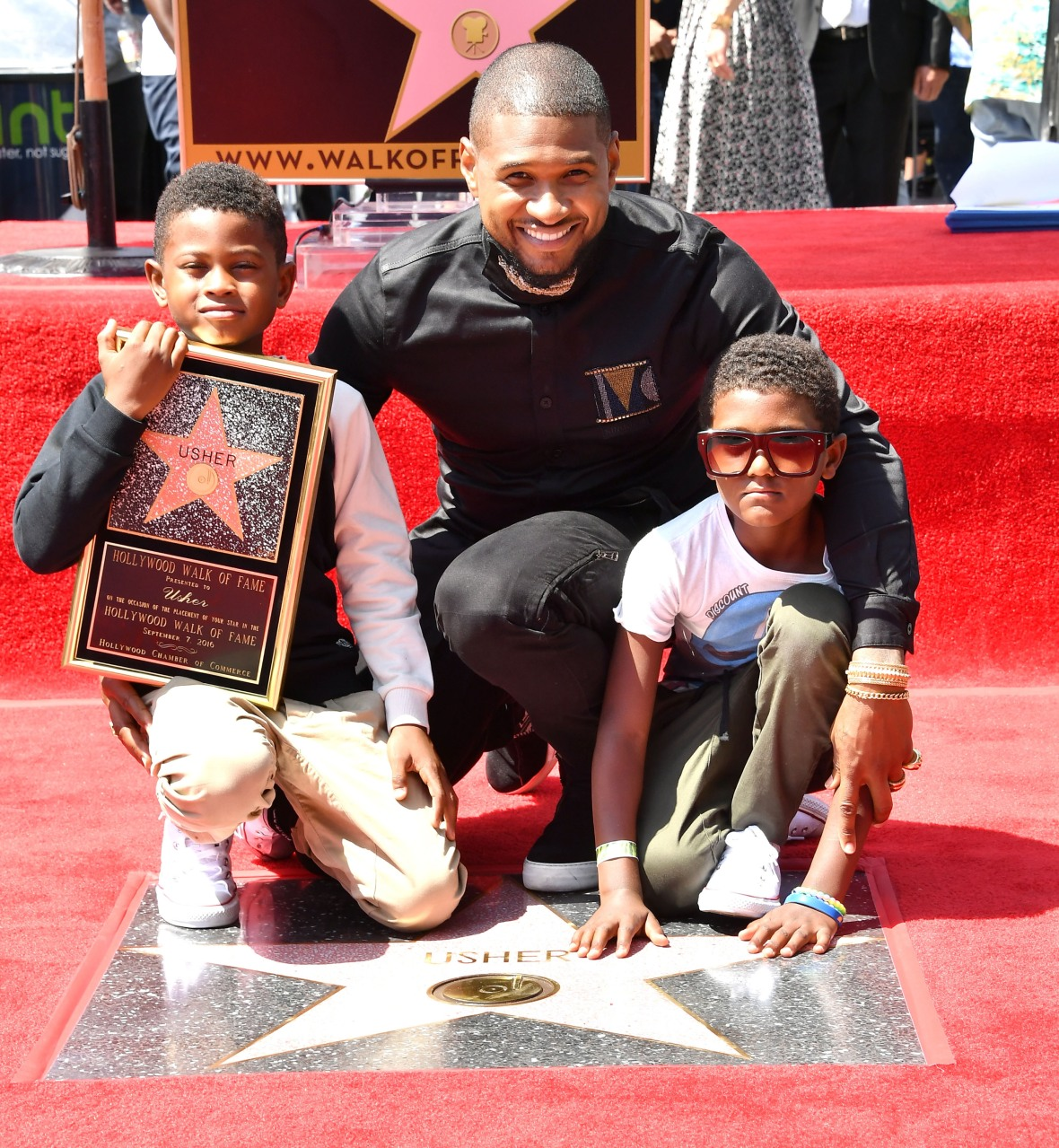 usher kids getty images