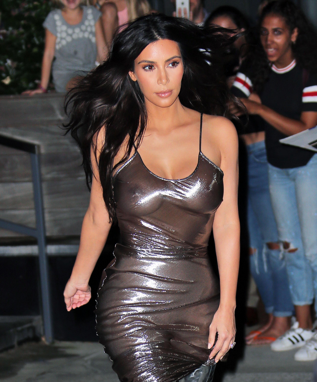 pics Kim kardashian nipslip