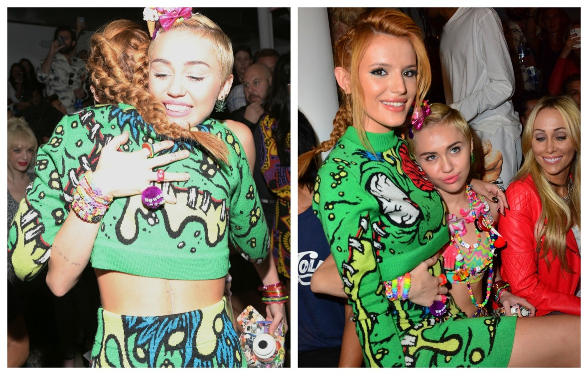 miley cyrus, bella thorne getty images
