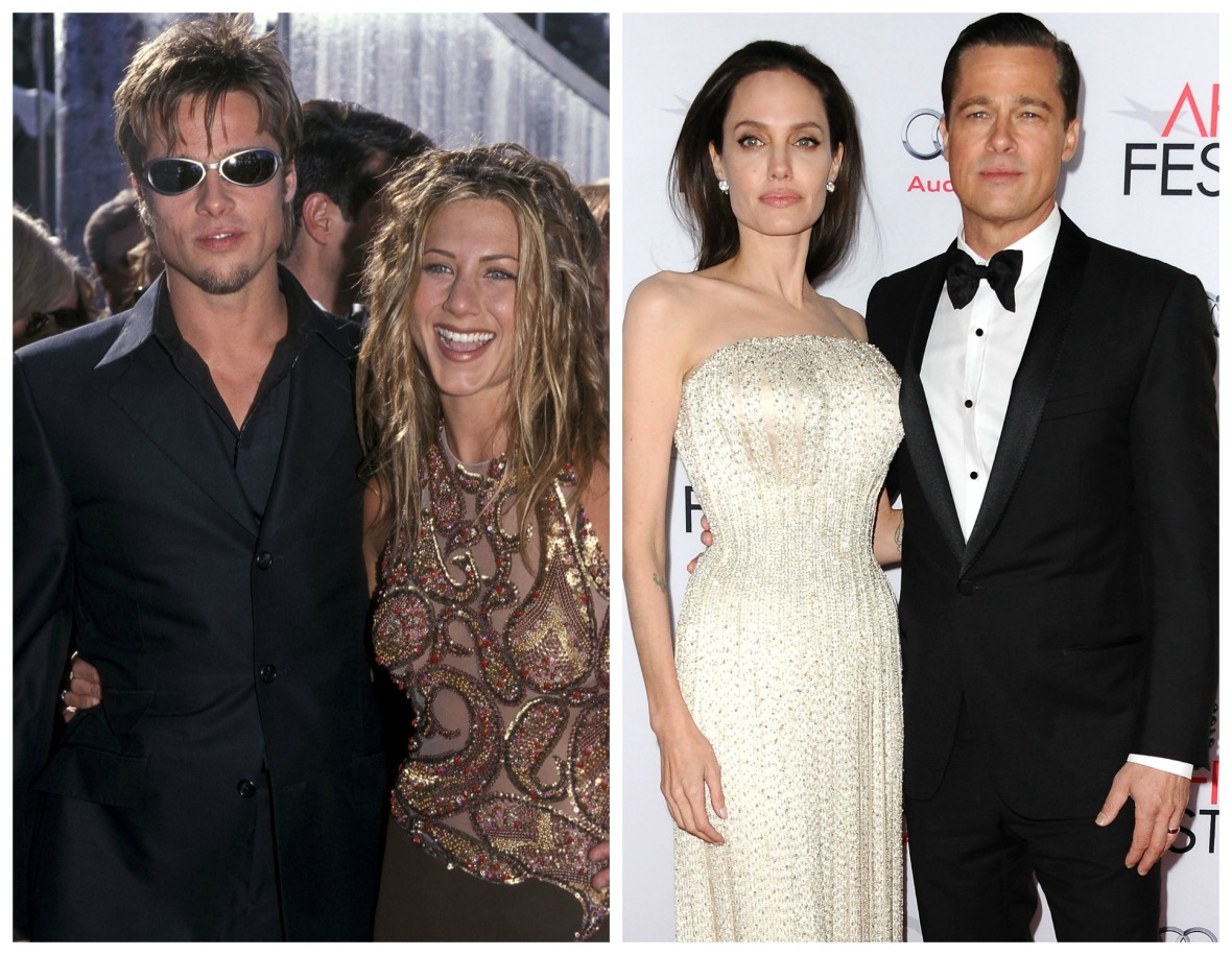 brad pitt jennifer aniston angelina jolie getty images
