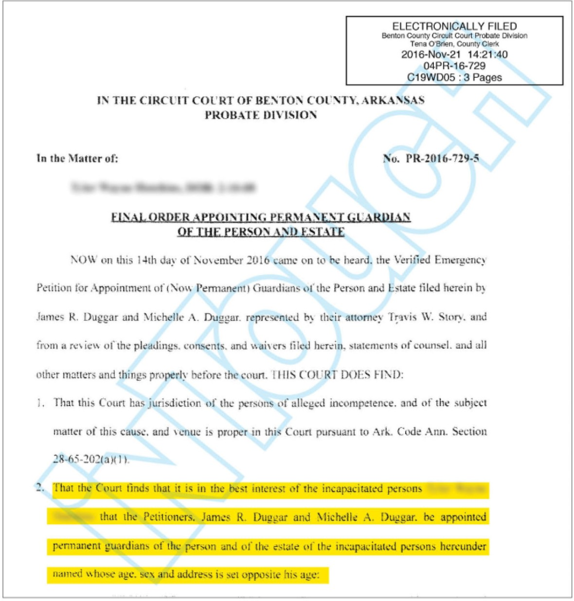 duggar court doc 11.29