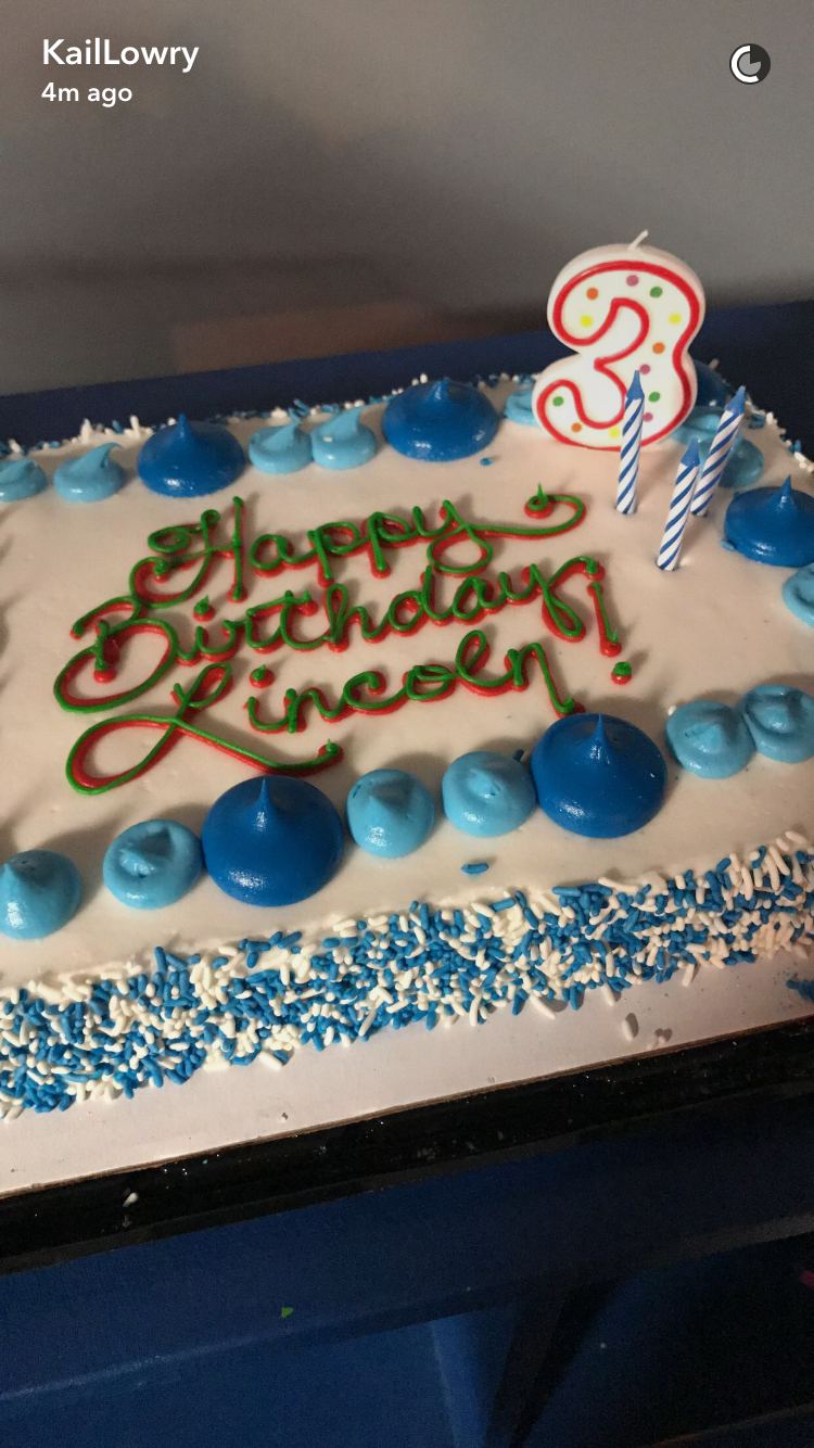 kailyn lowry lincoln birthday cake snapchat