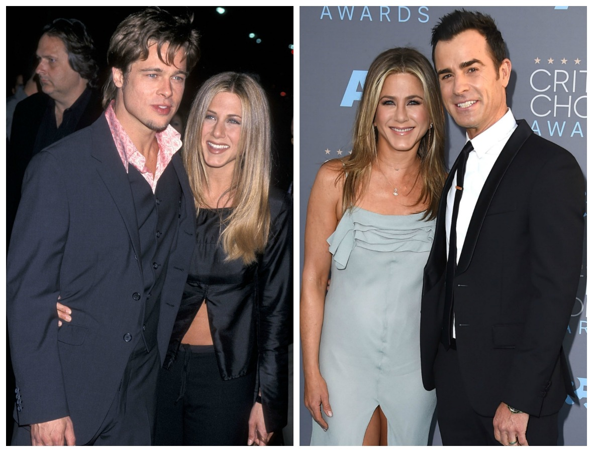 jennifer aniston justin theroux brad pitt getty images