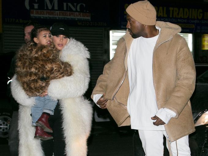 kanye west and kim kardashian getty images