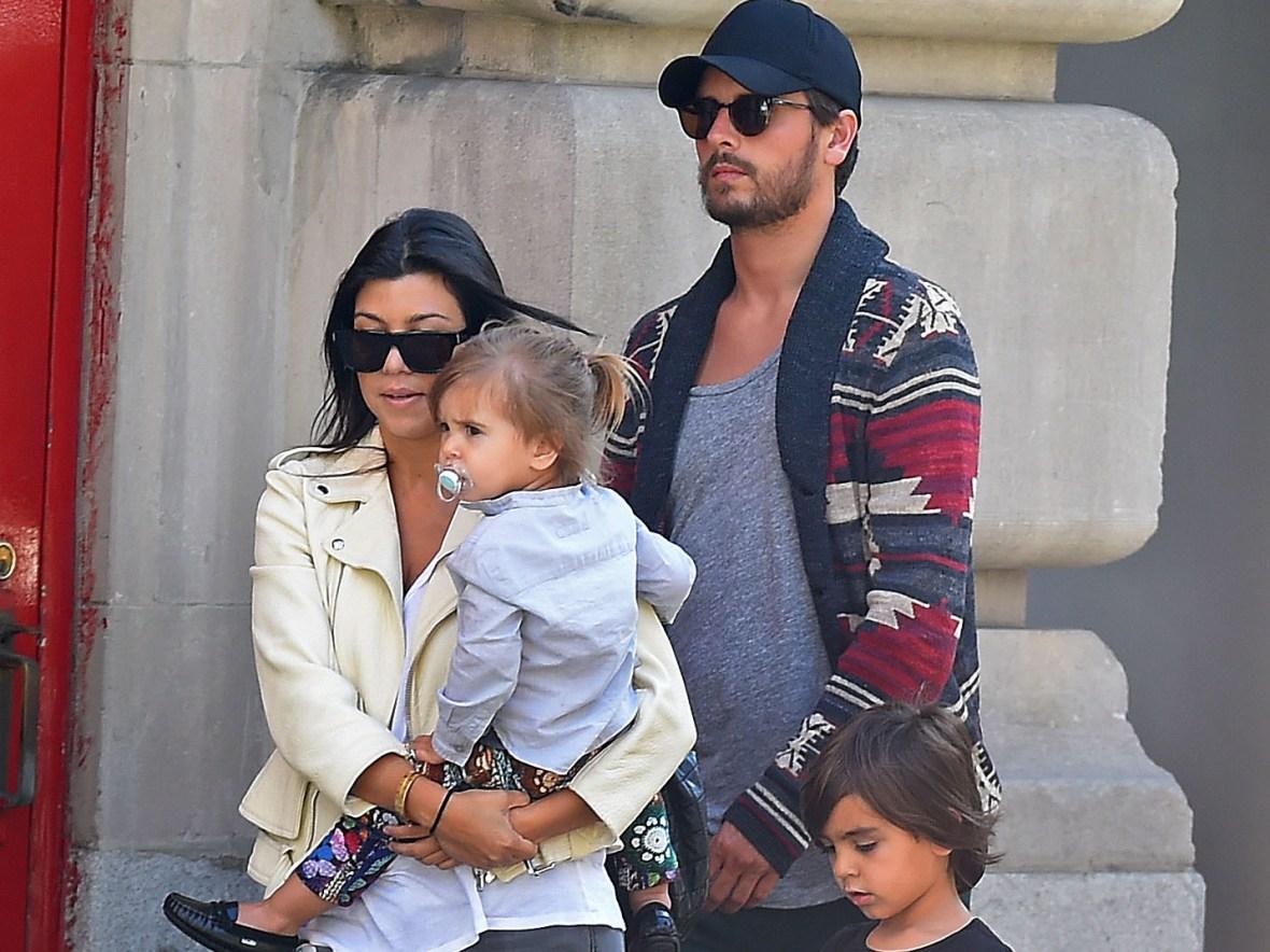 scott disick and kourtney kardashian and kids