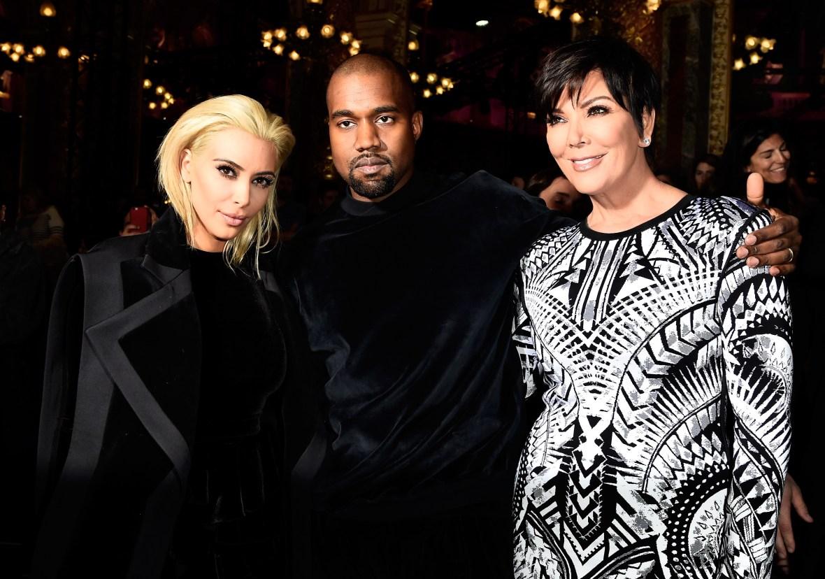 kim kardashian kris jenner kanye west getty images