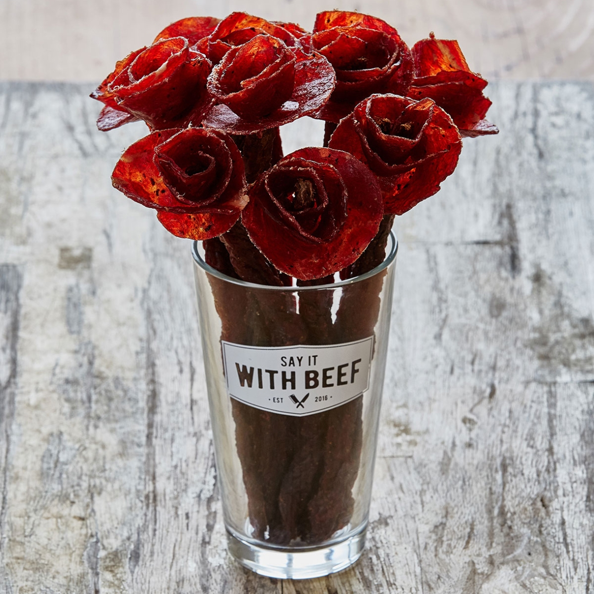 beef rose bouquet