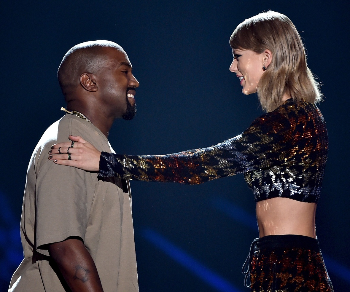 kanye west taylor swift getty images