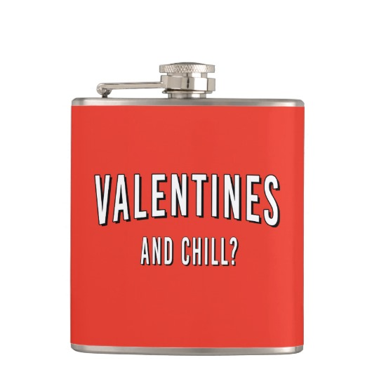 valentine's and chill flask