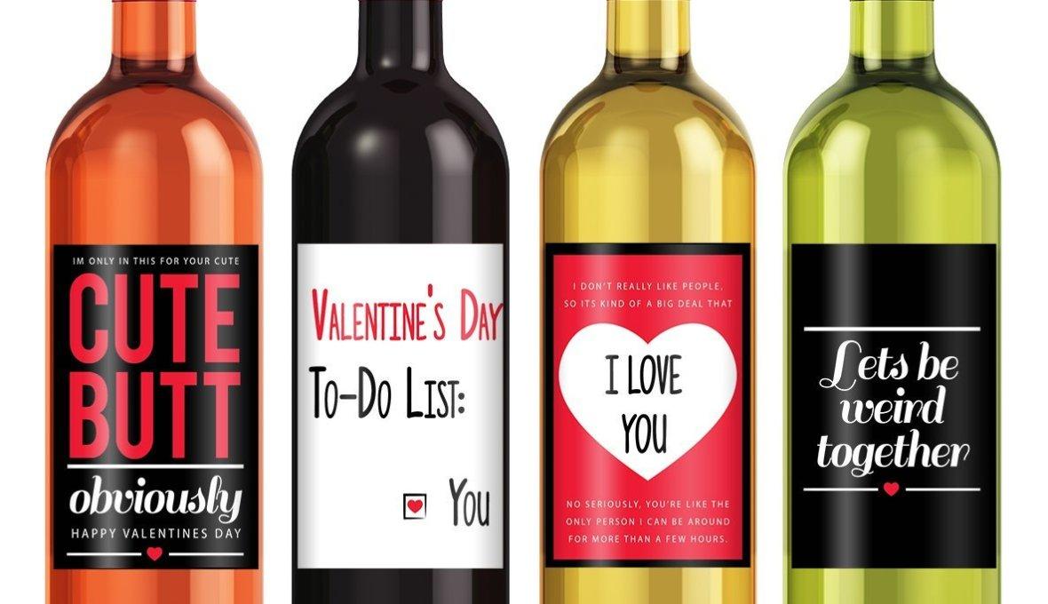 cute wine labels