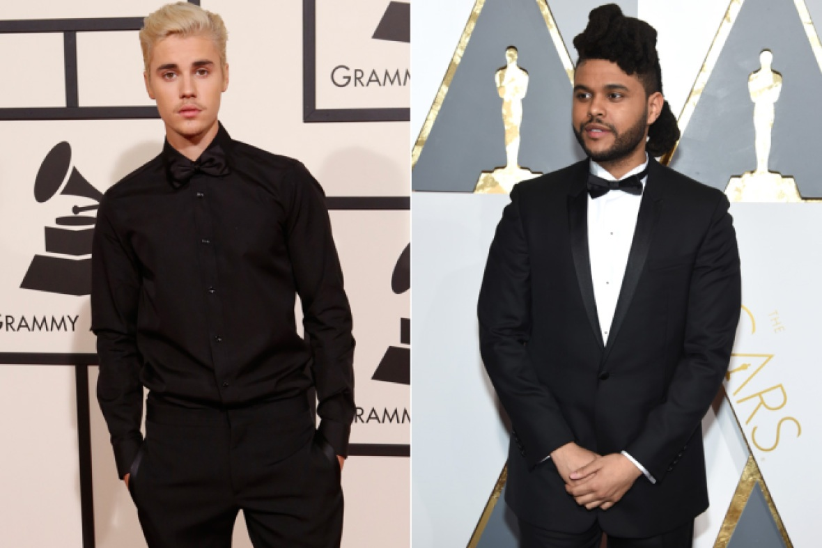 justin bieber x the weeknd getty images