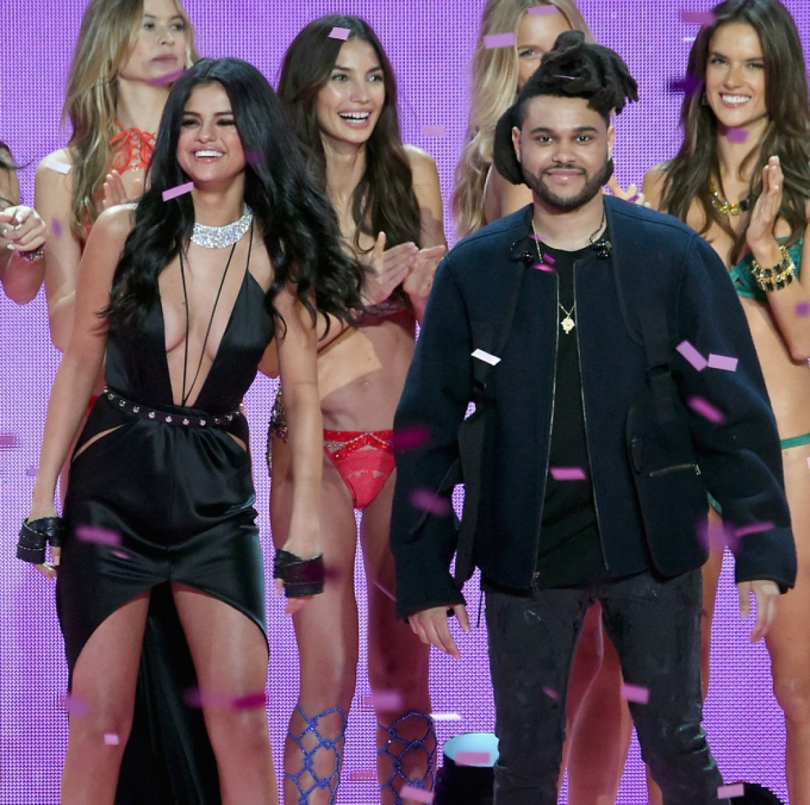 selena gomez the weeknd getty images
