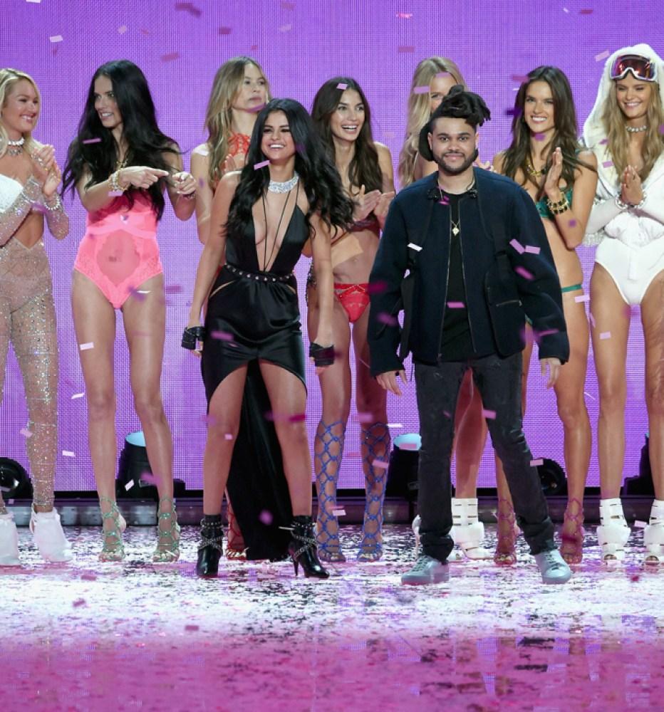 selena gomez the weeknd victoria's secret fashion show