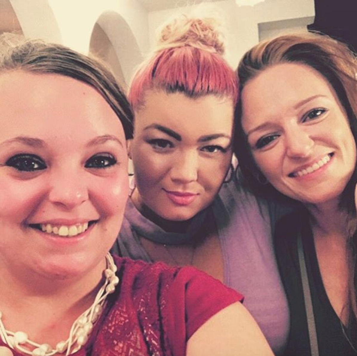 Catelynn Lowell Smiles For Selfie With Amber Portwood And Maci Bookout