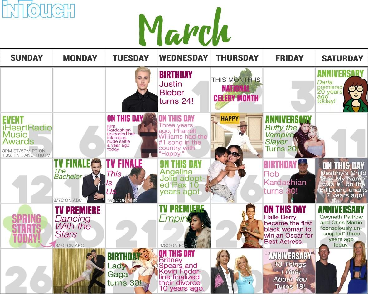 march 2017 entertainment calendar events
