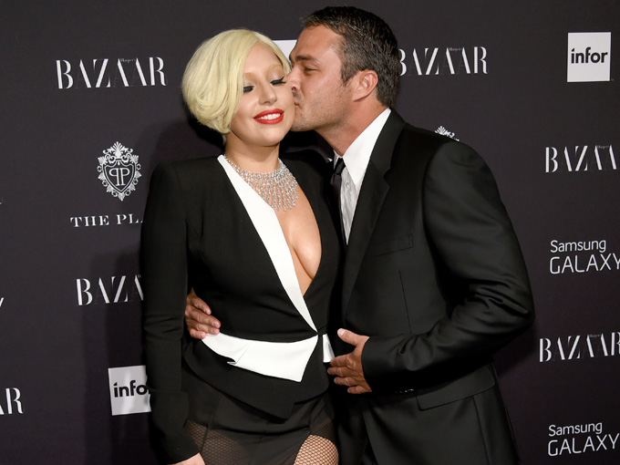 lady gaga and taylor kinney getty images