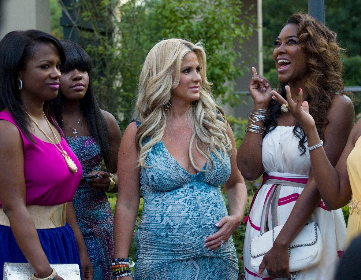 kim zolciak kenya moore getty images
