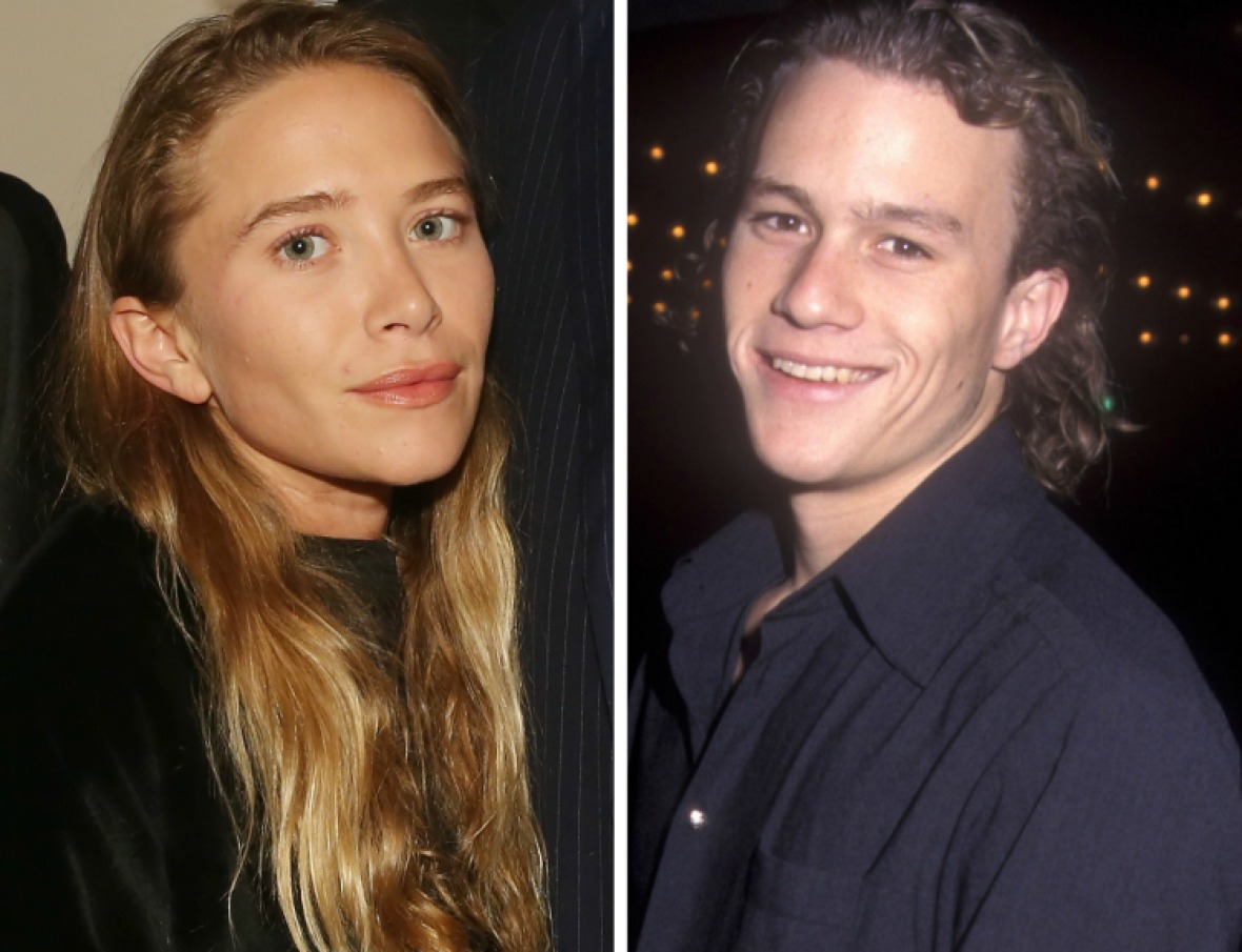 mary-kate olsen heath ledger getty images