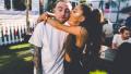 Ariana Grande kissing Mac Miller