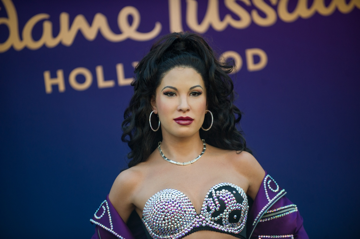 selena wax figure getty images