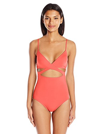 prime day 2017_itw - vince camuto women's fiji solids wrap one piece swimsuit with removable soft cups