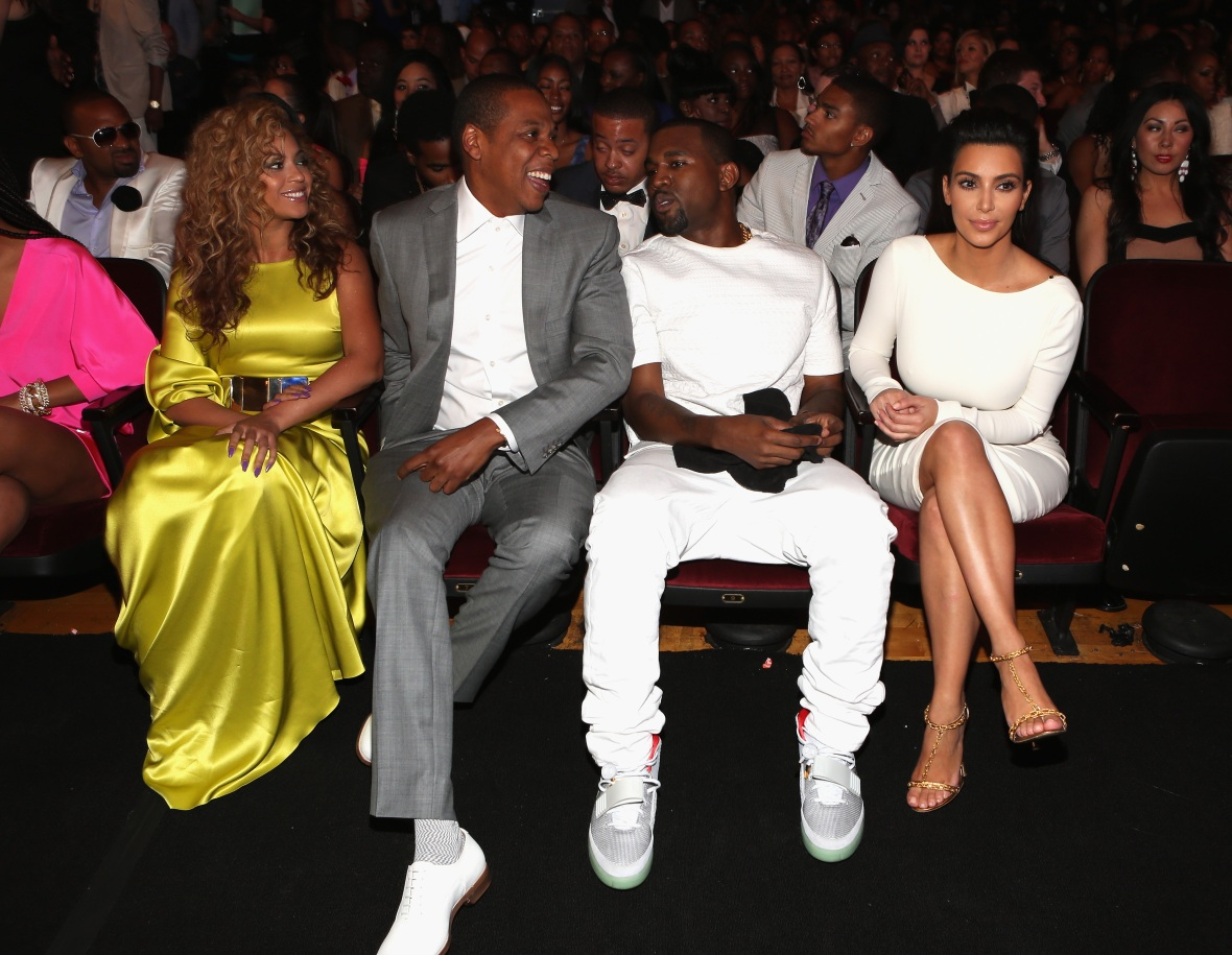 beyonce jay z kanye west kim kardashian - getty