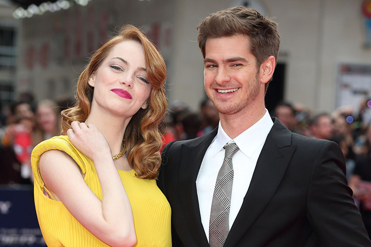 emma stone andrew garfield getty images