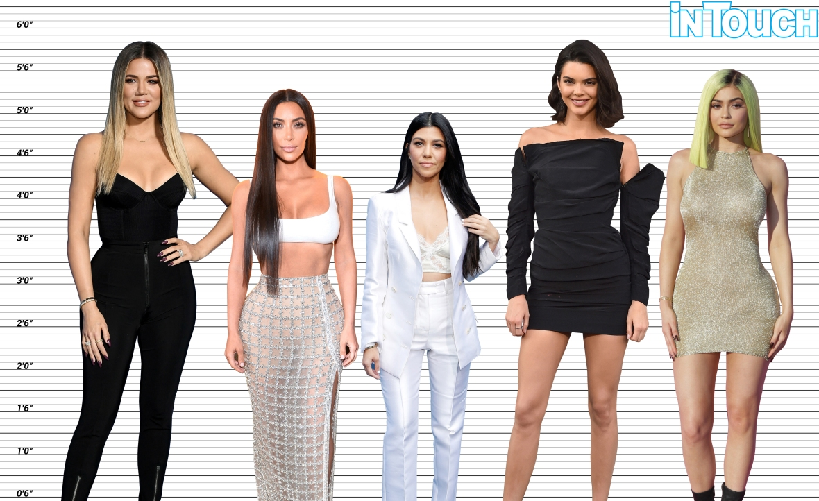 how tall are the kardashians