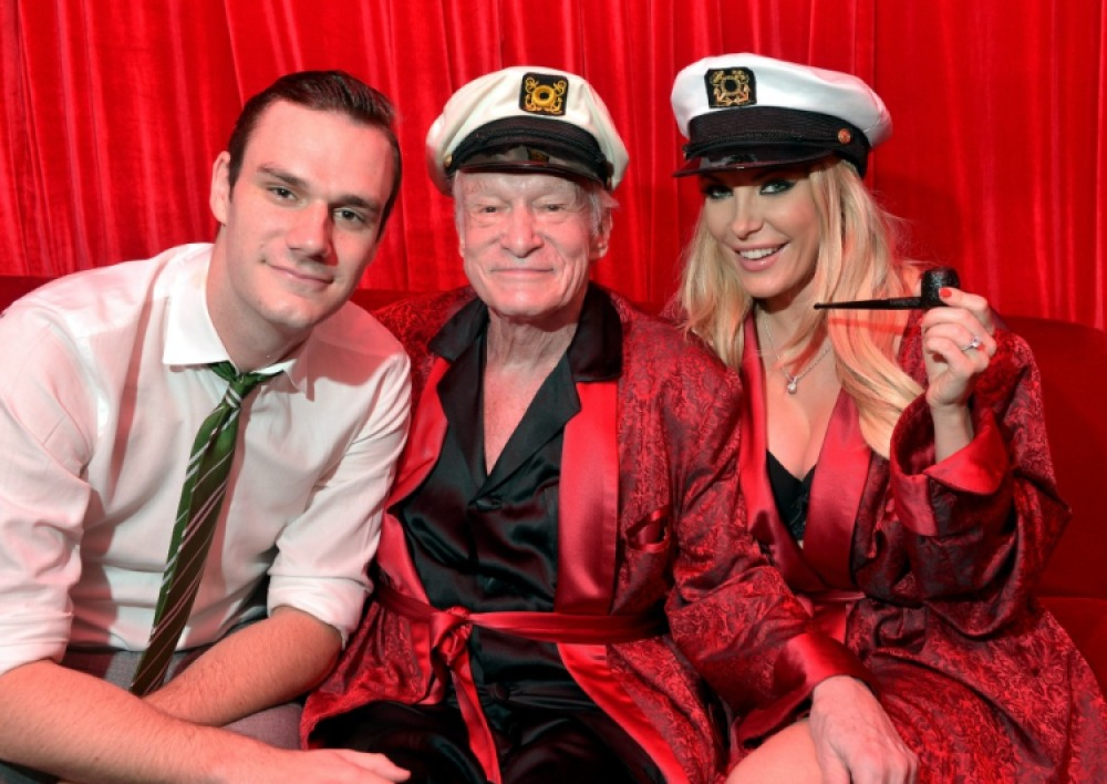 hugh hefner cooper crystal harris getty