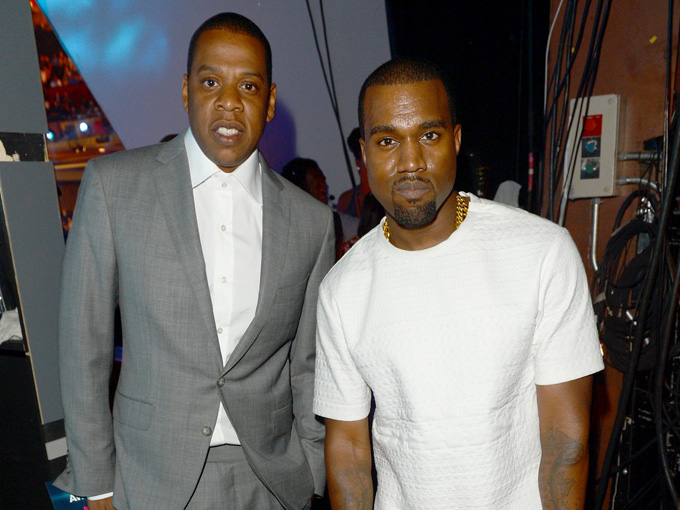 kanye west jay z getty images